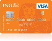 Karta płatnicza VISA - hybrydowa, z anteną, chipem i paskiem magnetycznym